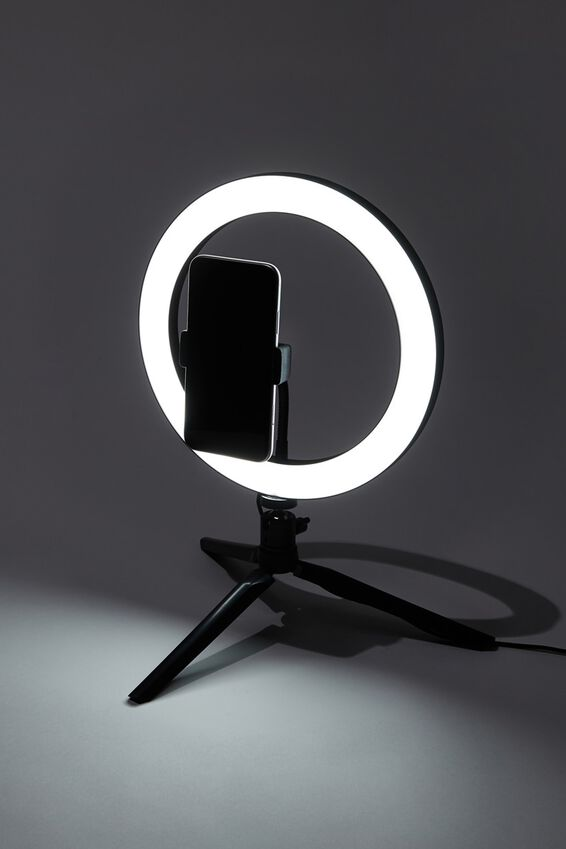 Glow Up 26cm Ring Light, BLACK