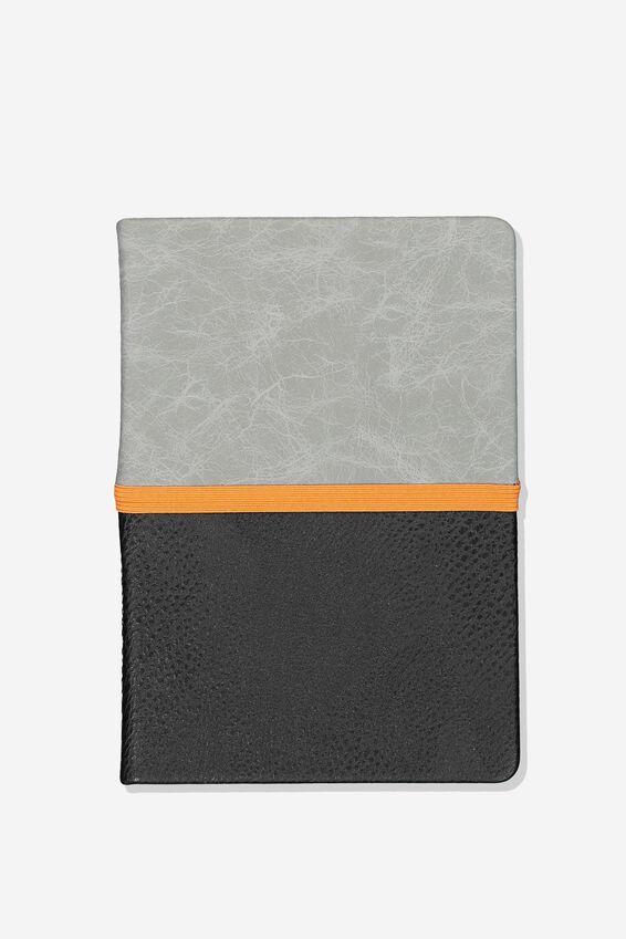 A5 Note Taker Grid Journal, CONCRETE BLACK