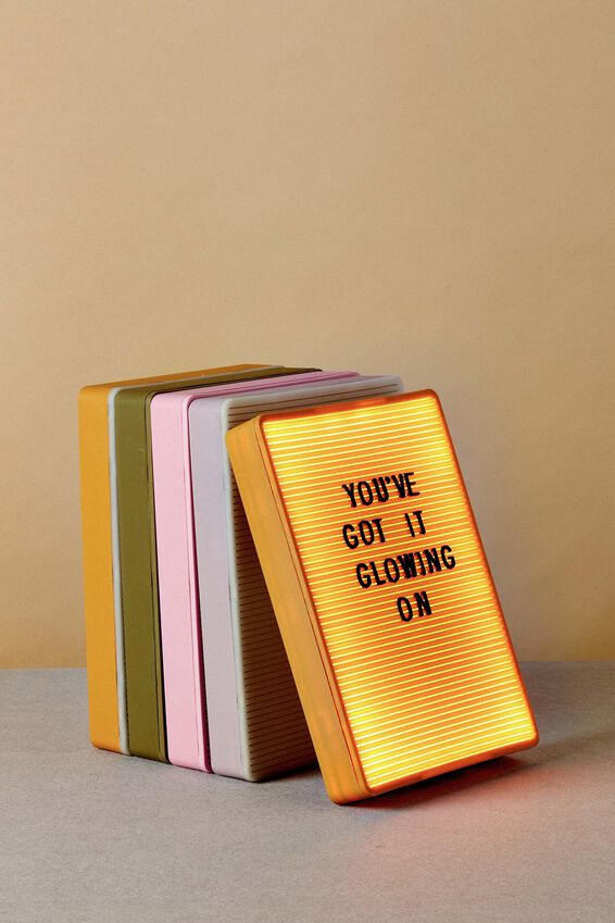 Peg Board Light Box, SOLID MUSTARD