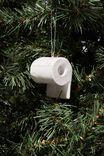 Resin Christmas Ornament, NO SHITS TOILET PAPER!