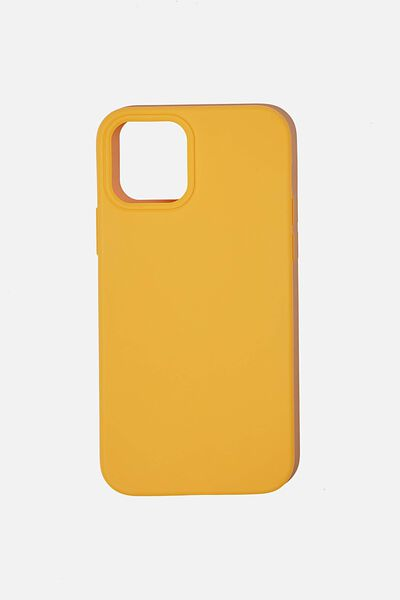 Slimline Recycled Phone Case Iphone 12, 12 Pro, MUSTARD
