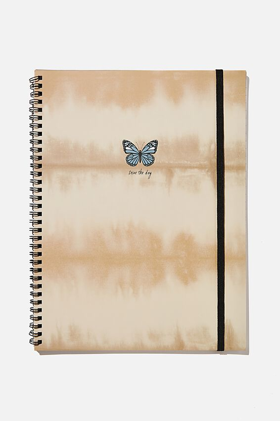 A4 Spinout Notebook Recycled, BUTTERFLY TIE DYE ICON!!
