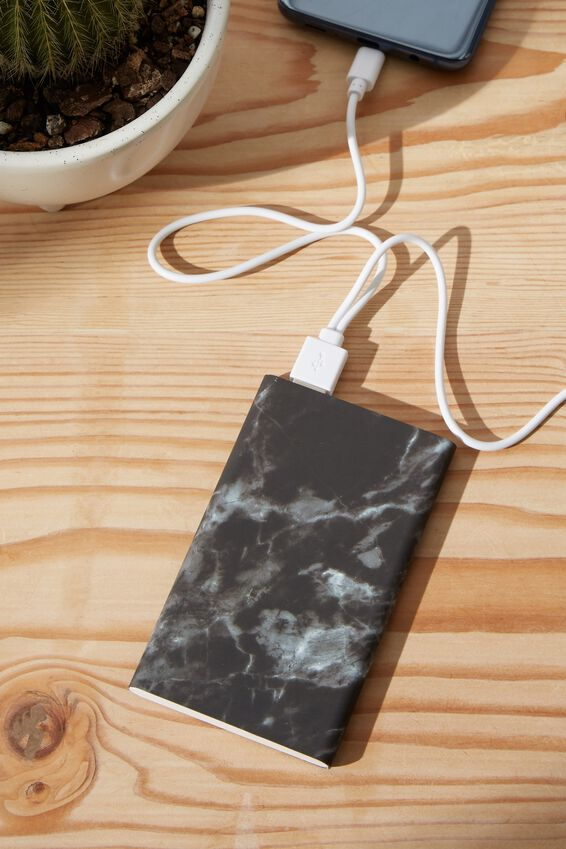 Printed Charge It Charger, BLACK MARBLE