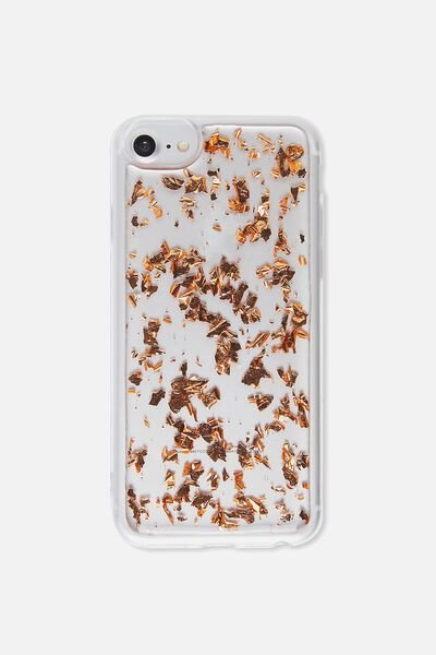 Transparent Phone Cover Universal 6,7,8, ROSE GOLD FOILING