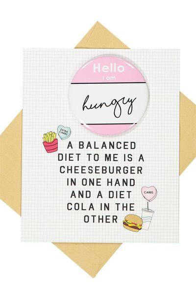 Premium Blank Card, BALANCED DIET BADGE