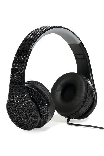 Diamonte Headphones, BLACK
