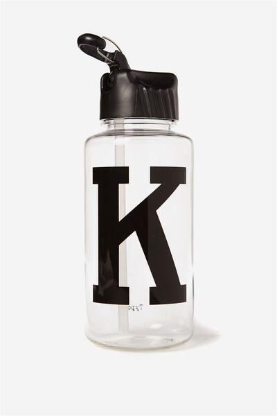 Alphabet Drink Bottle, BLACK K