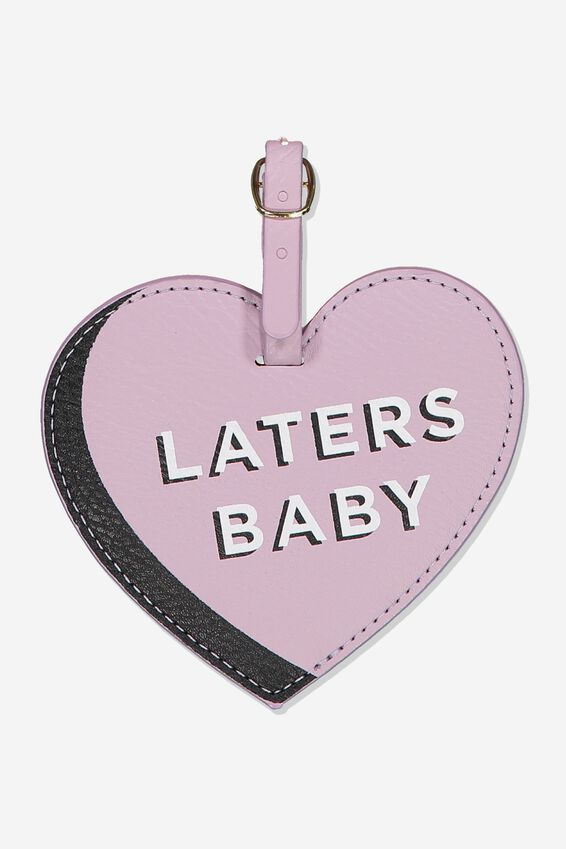 Shape Shifter Luggage Tag, LILAC LATERS BABY