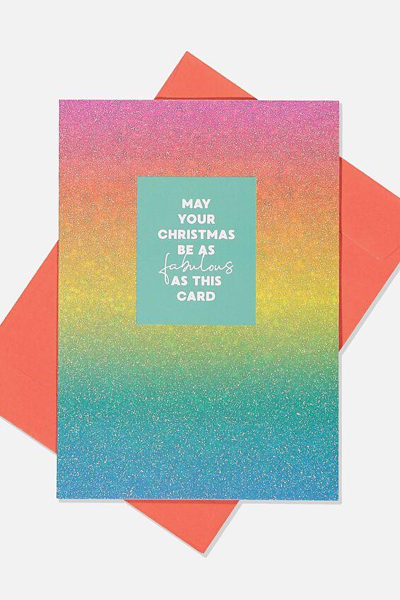 Christmas Card, FABULOUS GLITTER CARD