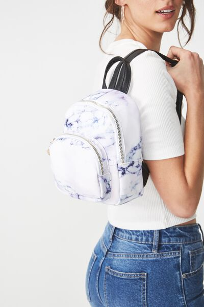 Mini Madrid Backpack, LUSH MARBLE