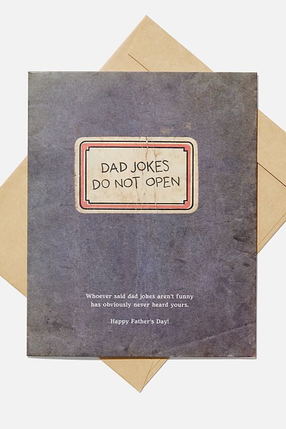 Fathers Day Card 2020, DAD JOKES DO NOT OPEN