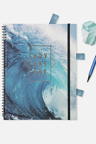A4 Spinout Notebook - 120 Pages, ADVENTURE WAVE