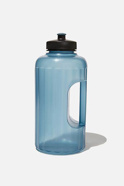 Faceted Drink Bottle, CH PETROL BLUE