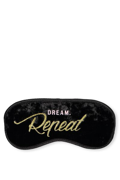 Premium Eye Mask, BLACK VELVET
