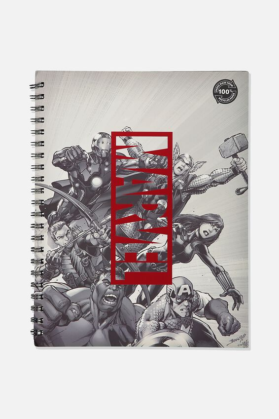 A4 Marvel Campus Notebook Recycled, LCN MARVEL MARVEL