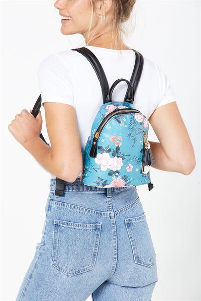Santa Fe Backpack, TEAL FLORAL