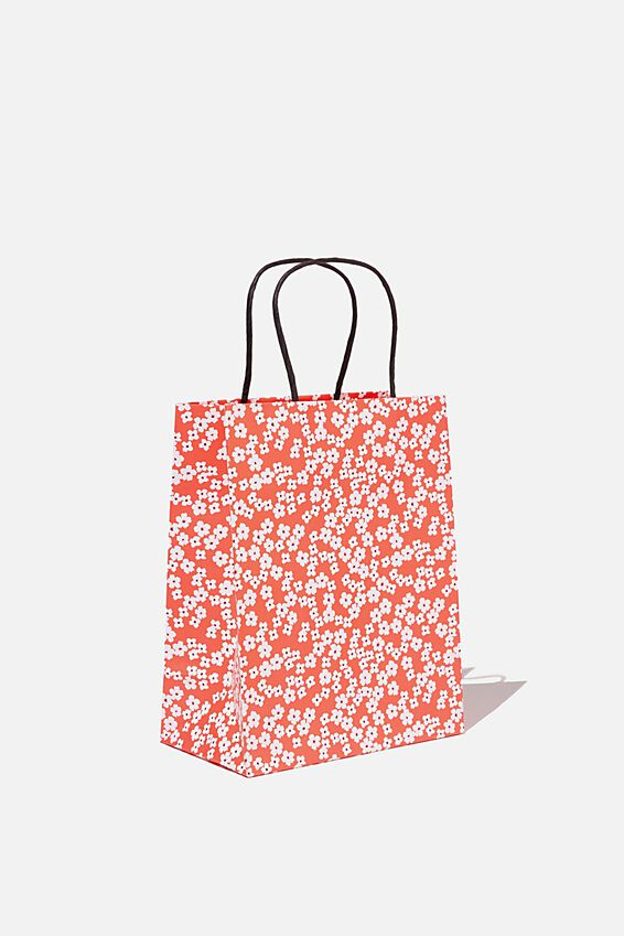 Get Stuffed Gift Bag - Small, CHERRY BLOSSOM NEW RED