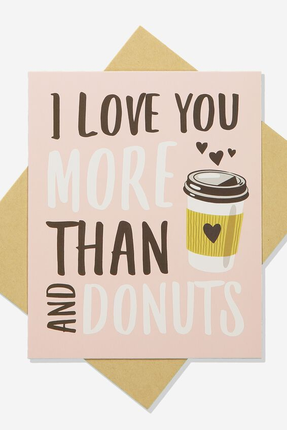 Scented Premium Love Card, SCENTED LOVE YOU MORE THAN DONUTS