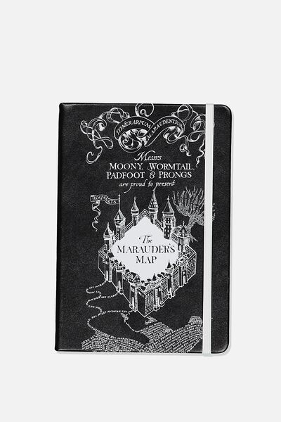 A5 Licensed Buffalo Journal, LCN HARRY POTTER RED MARAUDERS MAP