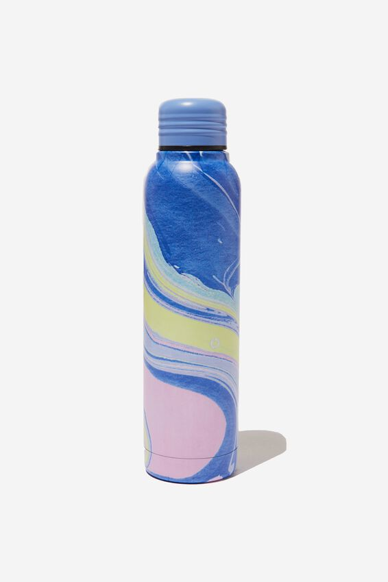 Small Metal Drink Bottle, COLOURED MARBLE