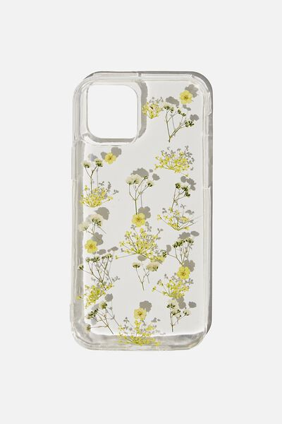 Snap On Protective Phone Case Iphone 12, 12 Pro, TRAPPED MICRO FLOWERS