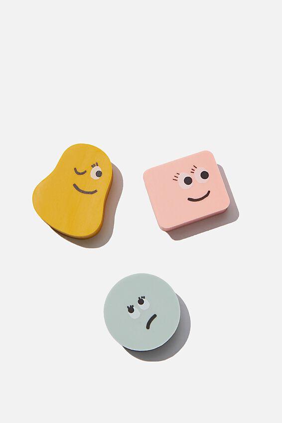 Novelty Eraser Pack, MINI FACES