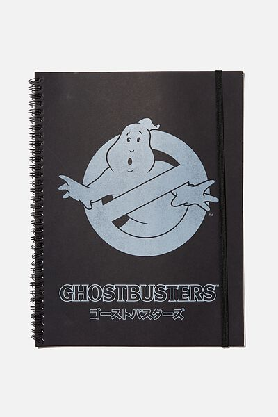 A4 Spinout Notebook Recycled, LCN SON GHOSTBUSTERS
