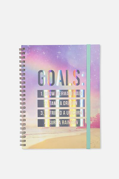 A5 Spinout Notebook - 120 Pages, GOALS