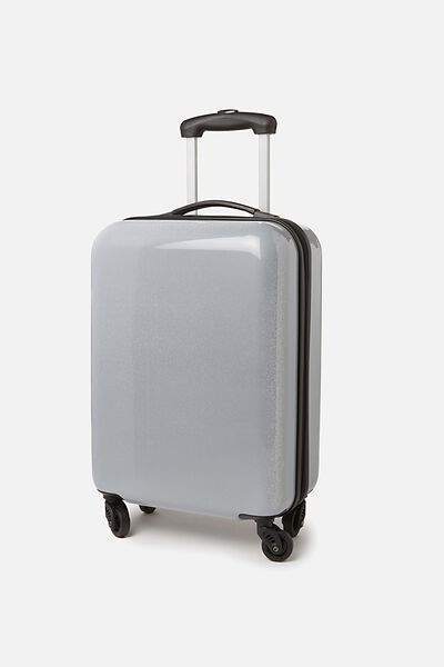 Small Glitter Suitcase, SILVER GLITTER