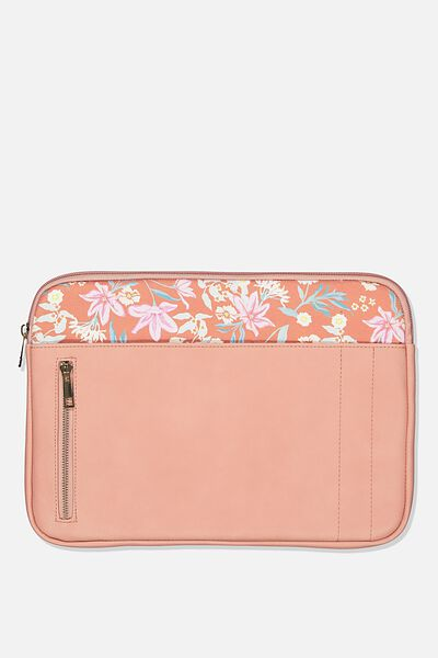 Take Charge Laptop Cover 13 inch, DUSTY ROSE W GARDEN PARTY FLORAL