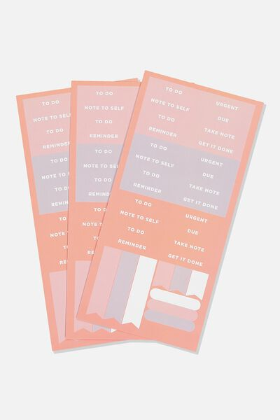 Sticker Pack, PEACHY CORAL
