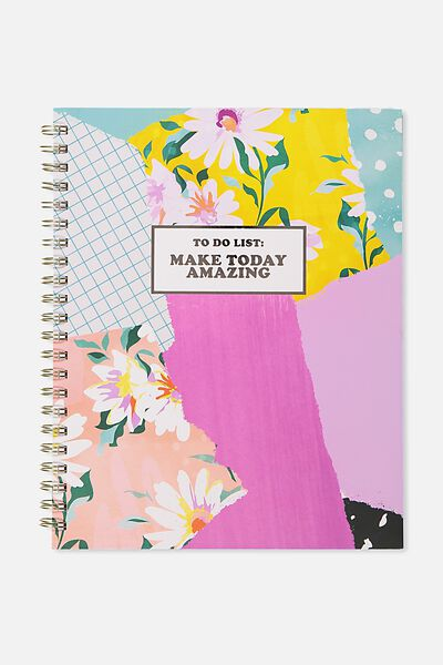 A4 Campus Notebook, PATCHWORK MAKE TODAY AMAZING