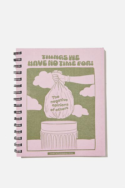 A5 Campus Notebook Recycled, TRASH BAG ILLUSTRATION