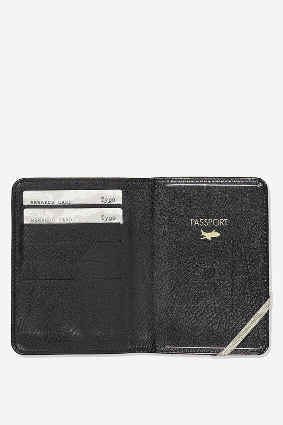 Rfid Passport Holder, MUSTARD FLORAL