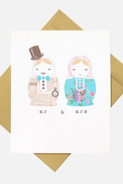 Wedding Card, WE-MR AND MRS