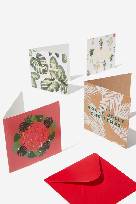 20 Christmas Card Pack 2019, PLANTS