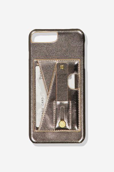 Cardholder Grip Case Iphone 6, 7, 8 Plus, ROSE GOLD
