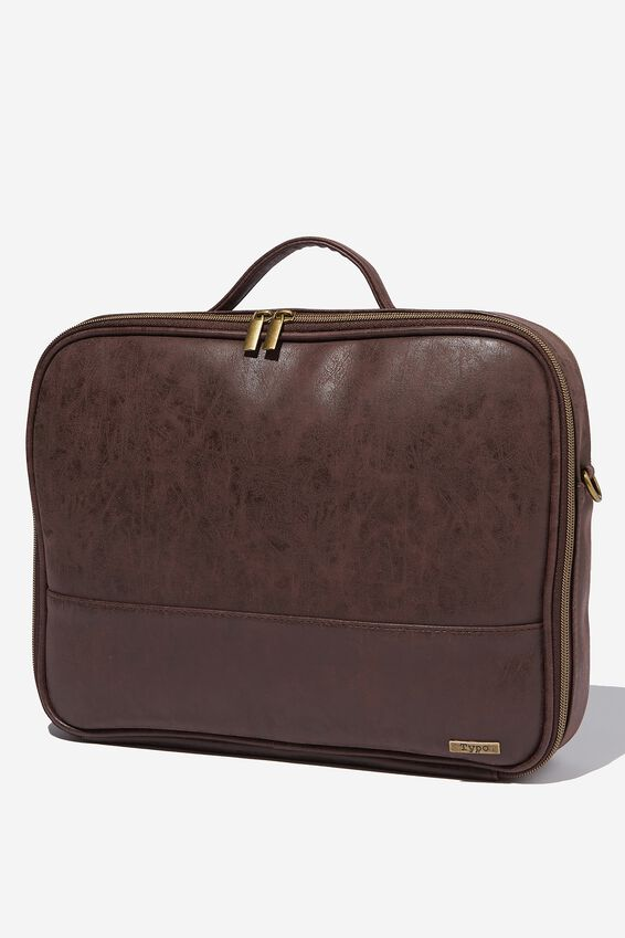 Mobile Laptop Folio, TEXTURED RICH TAN