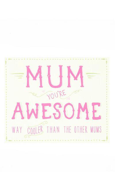 Mum Card, M-AWESOME MUM
