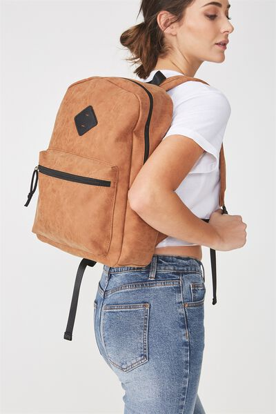 Student Backpack, MID TAN