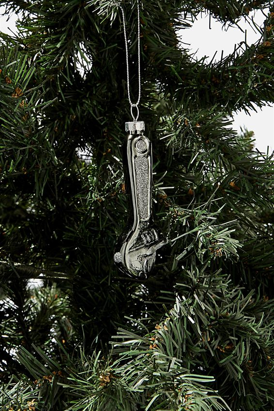 Small Glass Christmas Ornament, SPANNER
