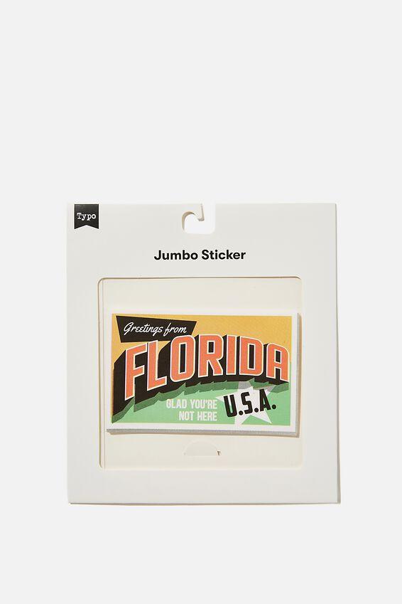 Jumbo Sticker, FLORIDA