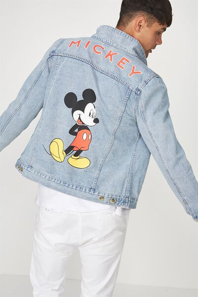 Typo Denim Jacket, LCN MICKEY MOUSE