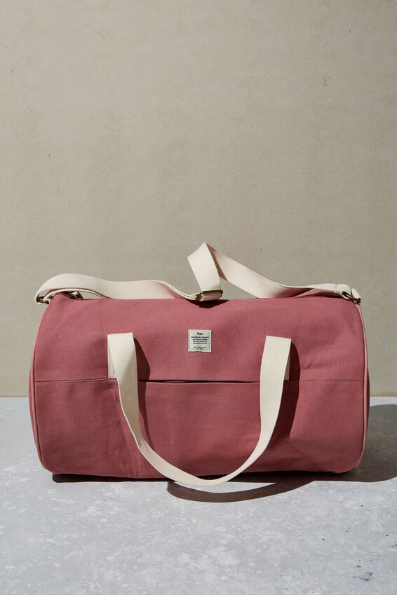 Canvas Barrel Bag, DUSTY ROSE