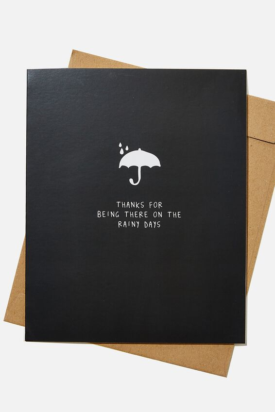 Thank You Card, RG UK THANKYOU RAINY DAYS