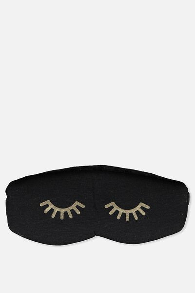 Total Block Out Eyemask, BLACK AND GOLD EYES