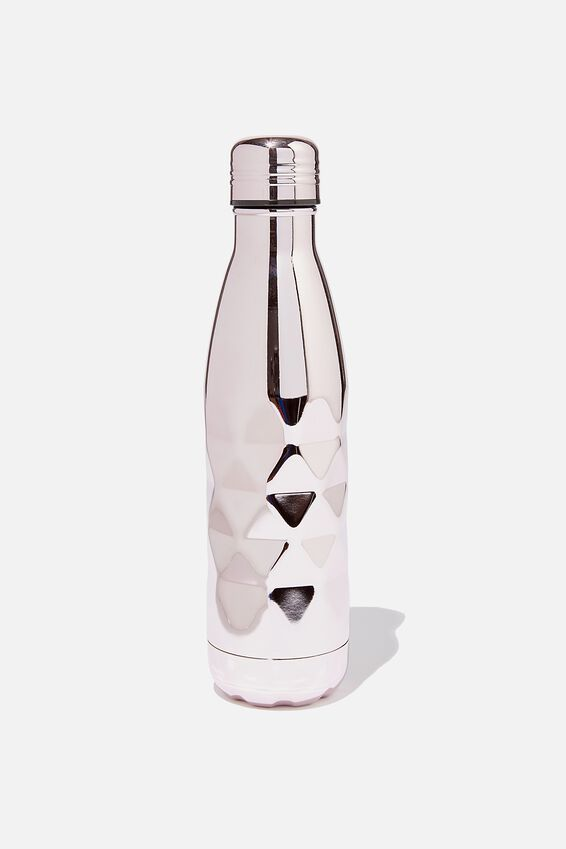 Premium Metal Drink Bottle, LILAC ELECTROPLATE FACETED