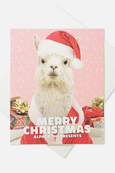 2018 Christmas Card, ALPACA THE PRESENTS