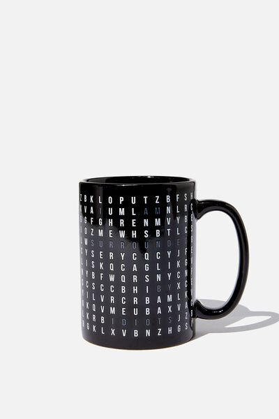 Double Dose Mug, WORD FIND IDIOTS!