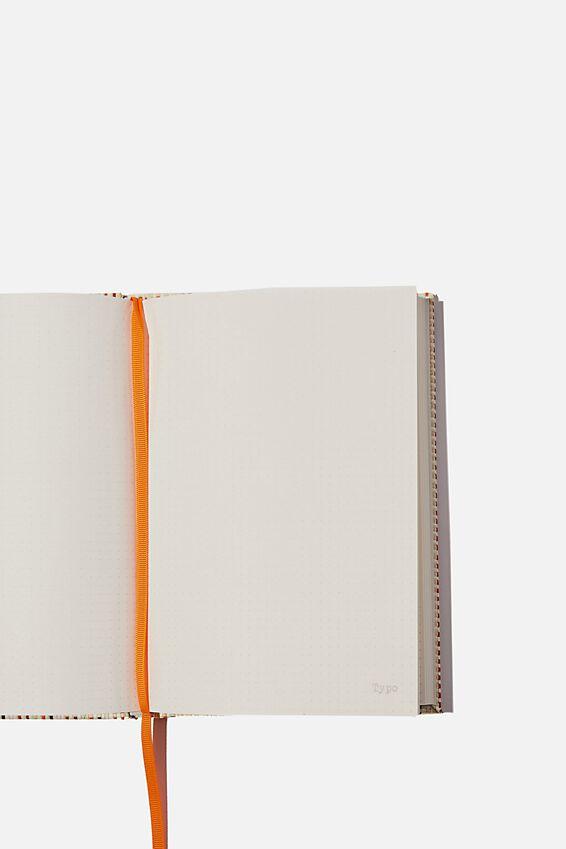 A5 Dot Oxford Notebook, MULTI RATTAN